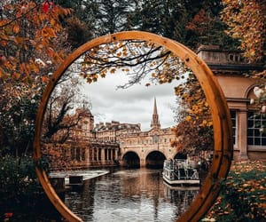 city, architecture, and autumn image