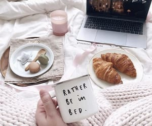 coffee, croissant, and enjoy image