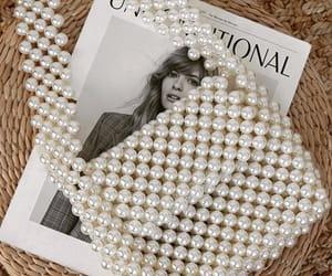 beads, fashion bag, and pearl image
