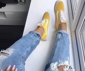 yellow, vans, and fashion image