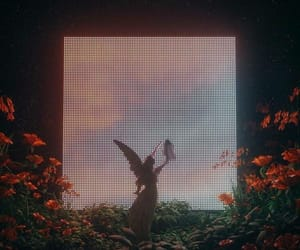 aesthetic, flowers, and angel image