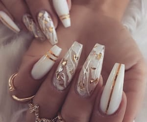 manicure, nail art, and sparkle image