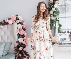 dress, lds, and floral dress image