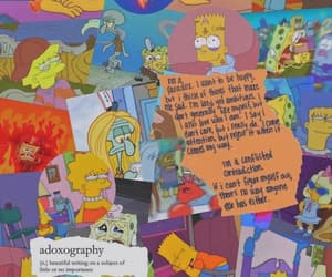 wallpaper, cartoon, and simpsons image