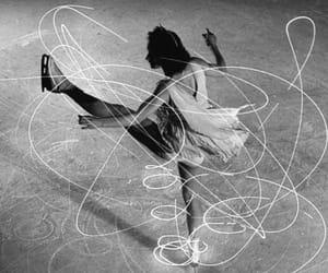 ice skating, monochrome, and vintage image