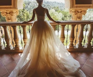 bride, dress, and view image