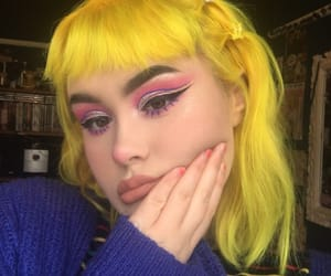 colored hair, yellow, and yellow hair image