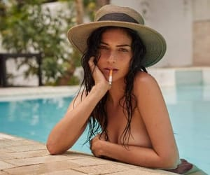 bad girl, pool, and portrait image