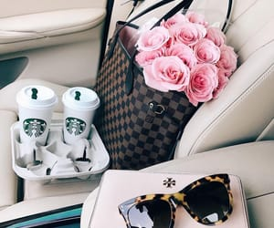fashion, rose, and starbucks image