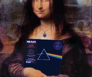 funny art, mona lisa, and Pink Floyd image