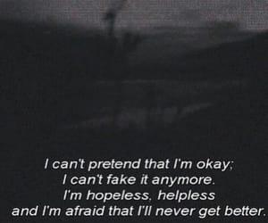 sad, hopeless, and depression image