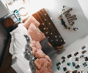 bed, cozy, and girly image
