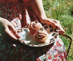 cupcake, food, and vintage image