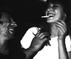 couple, cigarette, and smoke image