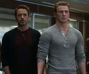 captain america, robert downey jr, and end game image