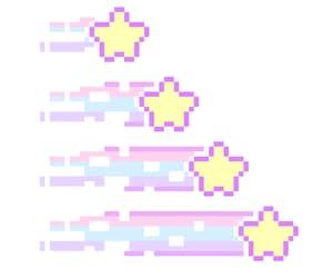 etoile, pastel, and pixel image