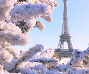 snow, france, and paris image