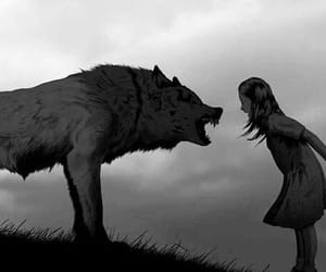 girl and wolf image