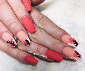 acrylics, nails, and summer image