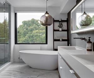 white, bathroom, and house image