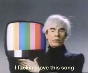 song, andy warhol, and funny image
