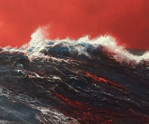 art, red, and water image