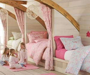 bedroom, girls, and pink image