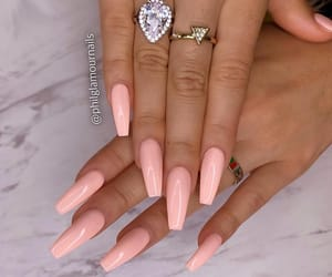 nails, natural, and Nude image