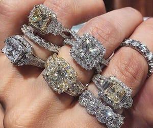 diamond, luxury, and rings image