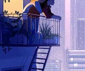anime, drawing, and plants image
