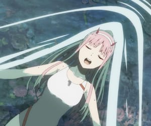 darling, zero two, and darling in the franxx image