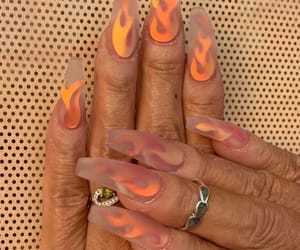flamme, nails, and rings image