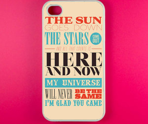 iphone, the wanted, and glad you came image