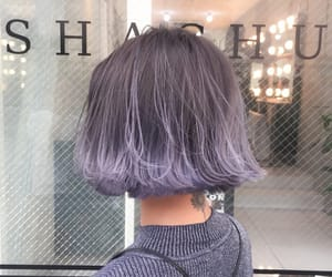 beauty, hair, and purple image