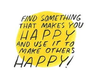 quotes, happy, and yellow image