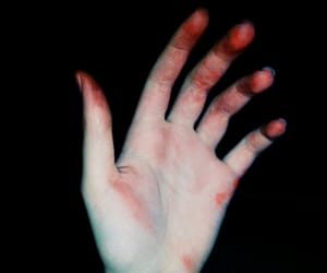 hand, pale, and red image