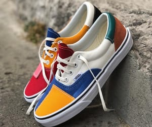 blue, red, and sneakers image