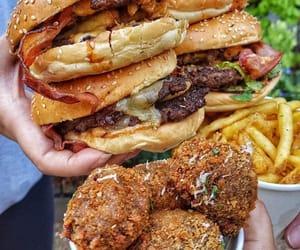 bacon, burger, and cheese image
