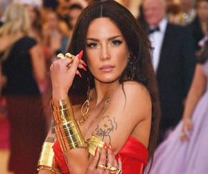 halsey, met gala, and red image