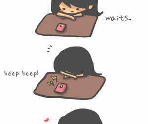love, message, and wait image