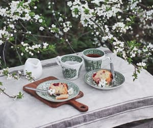 blossom, cakes, and coffee image