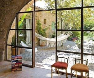 garden, hammock, and stone image