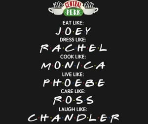 chandler, rachel, and central perk image
