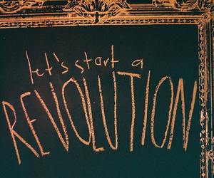 chalk, chalkboard, and revolution image