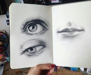 eyes, drawing, and sketch image