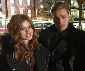 jace wayland, clary fray, and clary and jace image