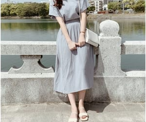 aesthetic, asian girl, and dress image