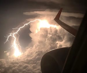 clouds, lightning, and thunder image