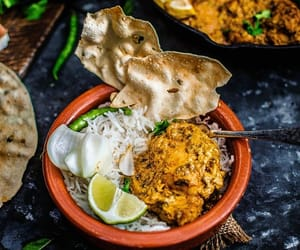 Chicken, food, and indian food image