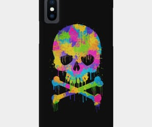 abstract, phone, and skull image